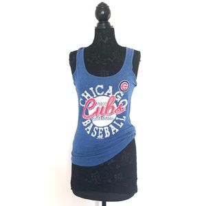 Tops - Blue Chicago Cubs Sleeveless Graphic T-Shirt